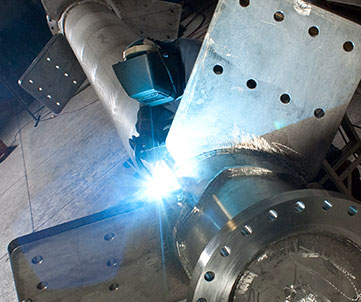 Welding an impeller